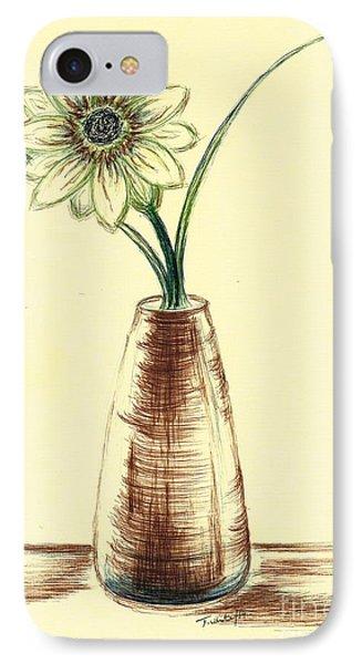 Chrysanthemum Flower IPhone Case by Teresa White