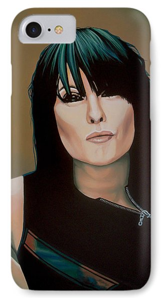 The iPhone 7 Case - Chrissie Hynde Painting by Paul Meijering