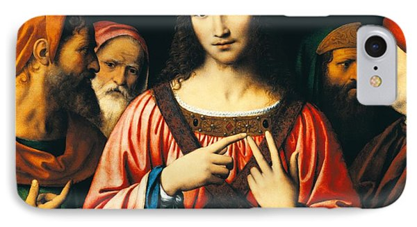 Christ Among The Doctors Phone Case by Bernardino Luini