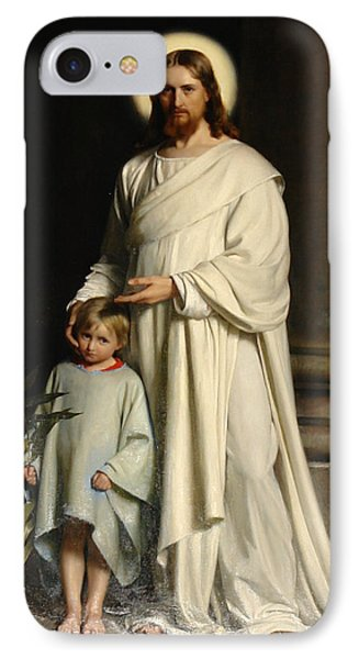 Christ And The Child IPhone Case by Carl Bloch