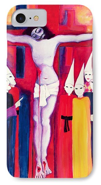 Christ And The Politicians Phone Case by Laila Shawa