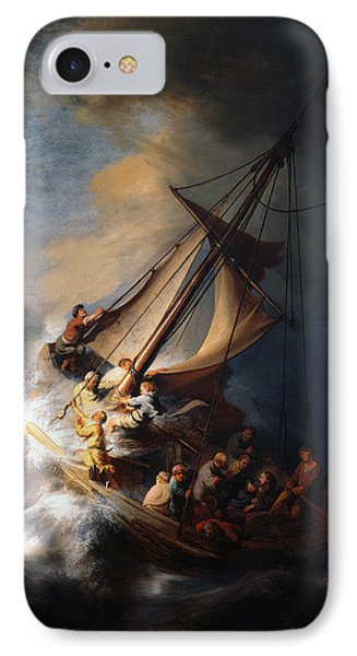 Christ And The Storm IPhone Case by Rembrandt