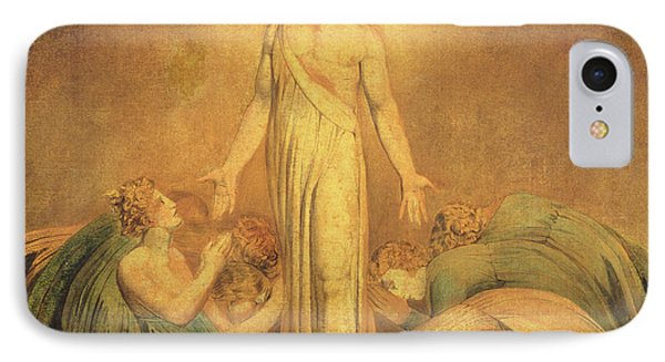 Christ Appearing To The Apostles After The Resurrection IPhone Case by William Blake