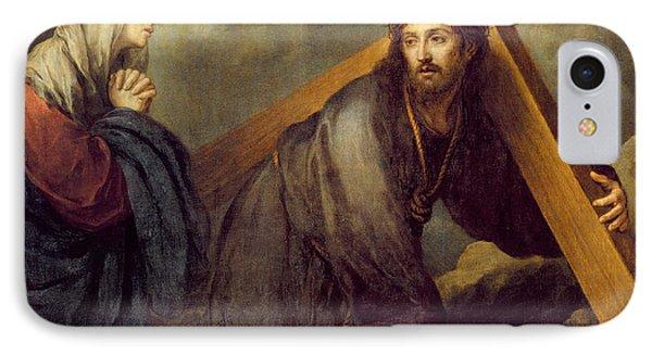Christ At Calvary IPhone Case