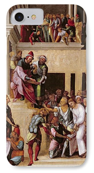 Christ Before Pilate, C.1530 Phone Case by Lodovico Mazzolino