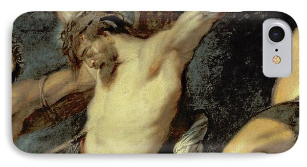 Punishment iPhone 7 Case - Christ Between The Two Thieves, 1620 by Peter Paul Rubens