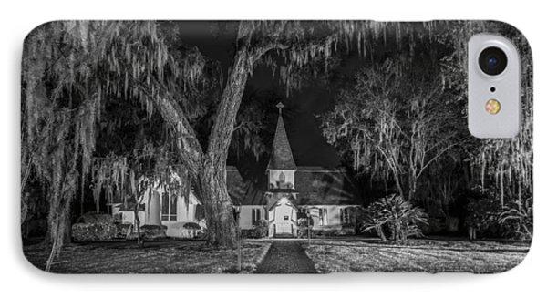 Christ Church Bw Phone Case by Debra and Dave Vanderlaan