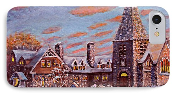 IPhone Case featuring the painting Christ Church In The Setting Sunlight by Rita Brown