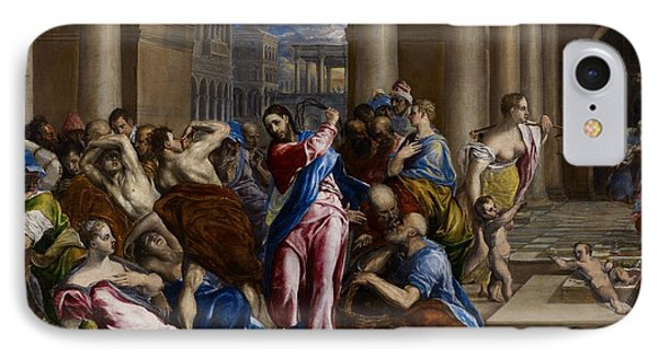Christ Driving The Money Changers From The Temple Phone Case by El Greco