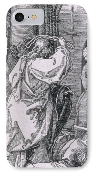 Christ Expelling The Moneychangers From The Temple IPhone Case by Albrecht Durer or Duerer