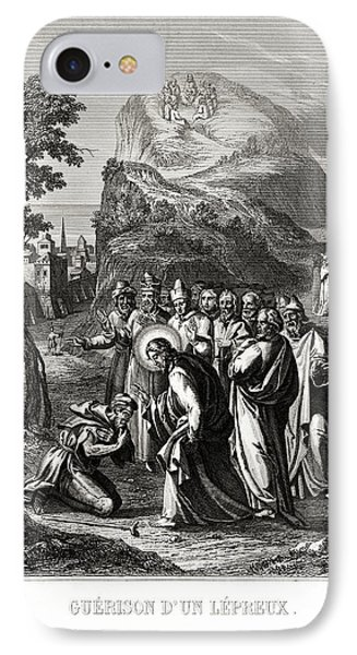 Christ Healing A Leper IPhone Case by National Library Of Medicine
