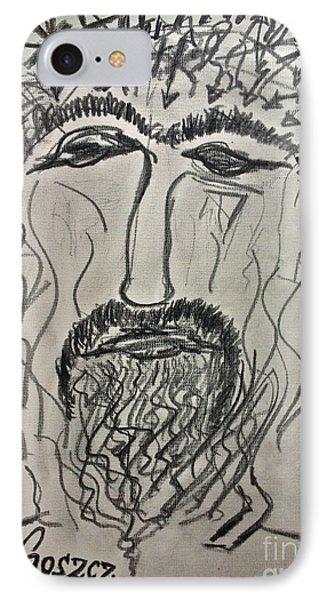 Christ In Distress. Pensive Christ. Chrystus Frasobliwy. By Andrzej Goszcz. Phone Case by  Andrzej Goszcz