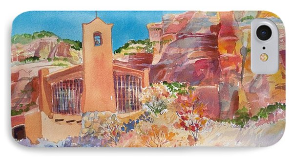 Christ In The Desert Monastery Phone Case by Sue Kemp