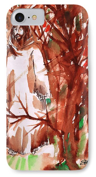 Christ In The Forest IPhone Case