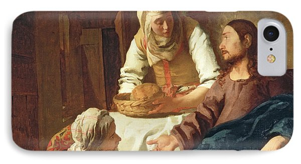 Christ In The House Of Martha And Mary IPhone Case by Jan Vermeer