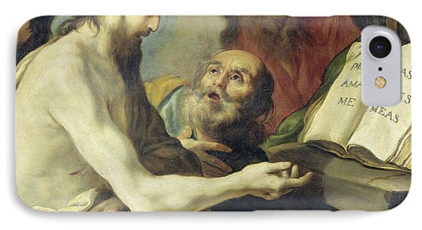 Christ Instructs Peter To Feed My Sheep, Claude Vignon IPhone Case by Litz Collection