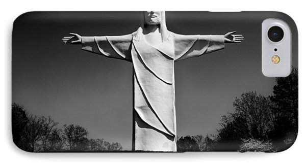 Christ Of The Ozarks IPhone Case by Benjamin Yeager