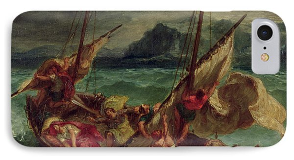 Christ On The Sea Of Galilee Phone Case by Delacroix