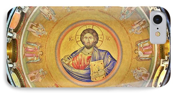 Christ Pantocrator -- Church Of The Holy Sepulchre IPhone Case by Stephen Stookey