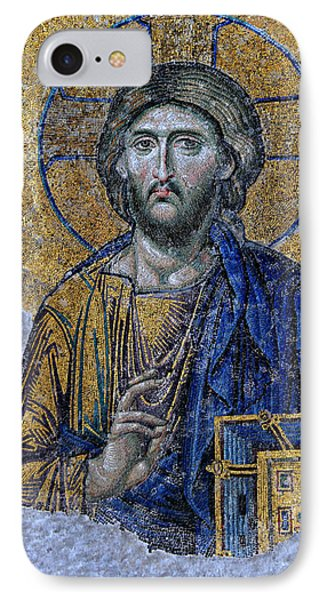 Christ Pantocrator -- Hagia Sophia IPhone Case by Stephen Stookey