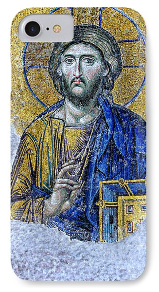 Christ Pantocrator II IPhone Case by Stephen Stookey