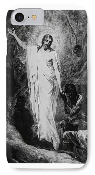 Christ Preaching To The Spirits In Prison C. 1910 Phone Case by Daniel Hagerman