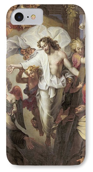 Christ Resurrected Between St Teresa Of Avila IPhone Case by Michel des Gobelins Corneille