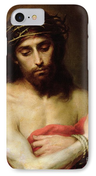 Christ The Man Of Sorrows IPhone Case by Bartolome Esteban Murillo