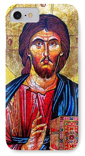 Christ The Pantocrator Icon Phone Case by Ryszard Sleczka