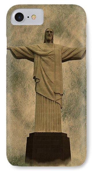 Christ The Redeemer Brazil IPhone Case by David Dehner