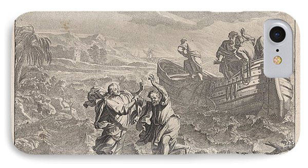 Christ Walking On The Water, Richard Van Orley IPhone Case by Quint Lox