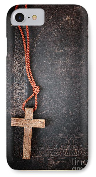 Christian Cross On Bible IPhone Case