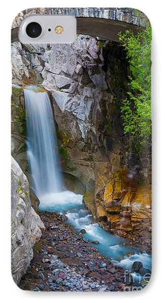 Christine Falls And Bridge IPhone Case by Inge Johnsson
