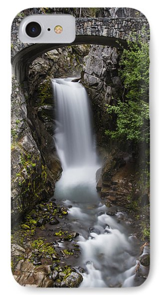 Christine Falls At Dusk IPhone Case by Lee Kirchhevel