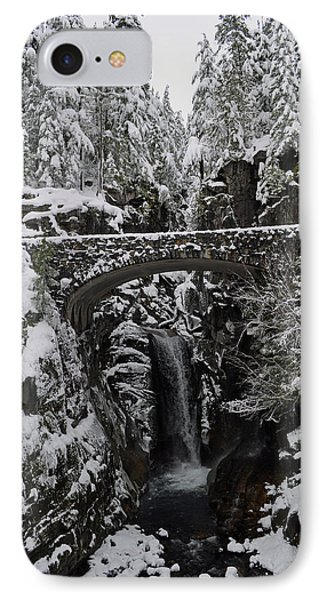 IPhone Case featuring the photograph Christine Falls In The Winter by Tikvah's Hope