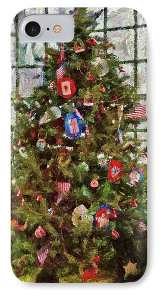 Christmas - An American Christmas Phone Case by Mike Savad
