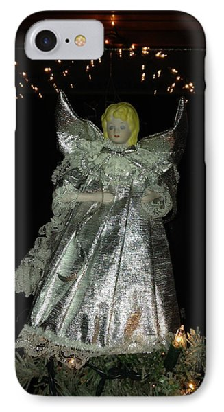 Christmas Angel IPhone Case by Peg Toliver