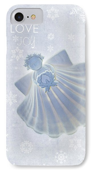 Christmas Angel IPhone Case by Rebecca Cozart