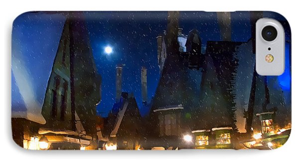 Christmas At Hogsmeade Blank IPhone Case