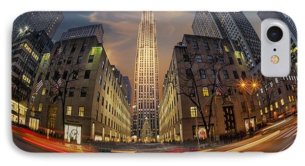 Christmas At Rockefeller Center IPhone Case