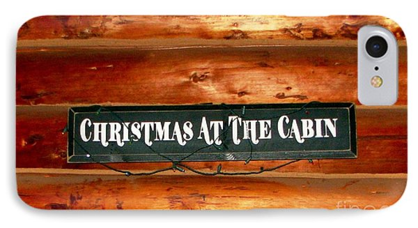 Christmas At The Cabin IPhone Case
