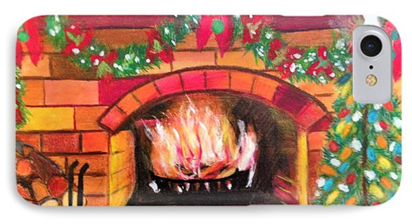 Christmas At The Cabin IPhone Case by Renee Michelle Wenker
