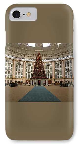 Christmas At West Baden Phone Case by Sandy Keeton