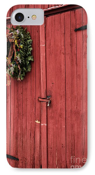 Christmas Barn IPhone Case by John Rizzuto