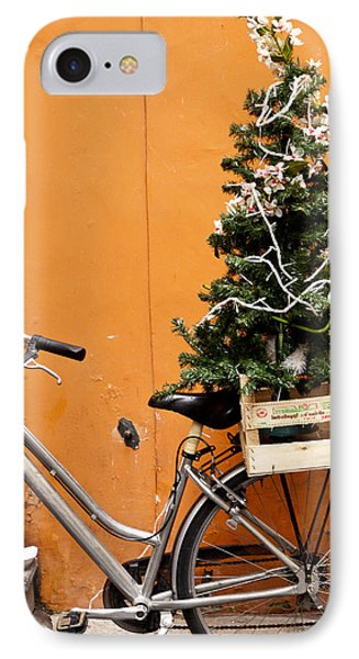 Christmas Bicycle Phone Case by Rae Tucker