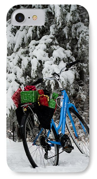 IPhone Case featuring the photograph Christmas Bike by Wayne Meyer