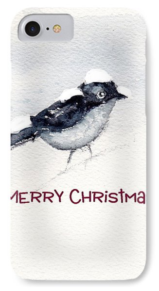 IPhone Case featuring the painting Christmas Birds 02 by Anne Duke