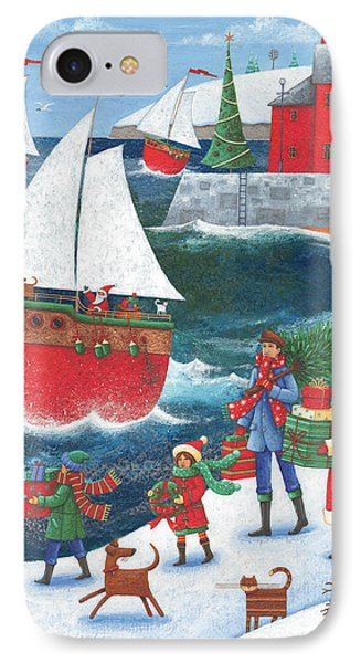 Christmas By The Sea IPhone Case by Peter Adderley