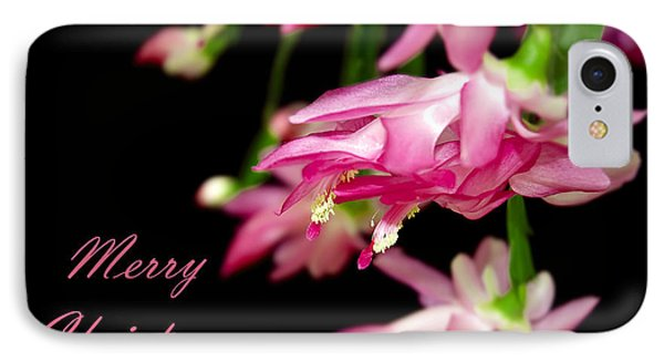 Christmas Cactus Greeting Card Phone Case by Carolyn Marshall