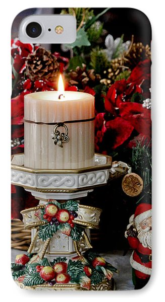 Christmas Candle IPhone Case by Ivete Basso Photography